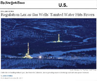 NYTimes article on gas drilling
